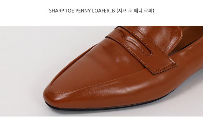 Sharp toe penny loafer_B (size : 230,235,240,245,250)