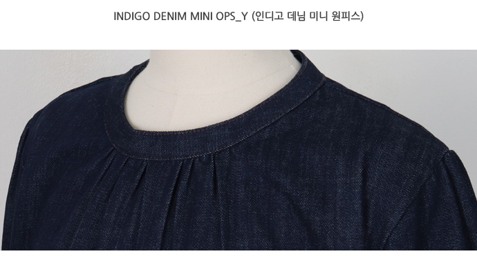 Indigo denim mini ops_Y (size : free)