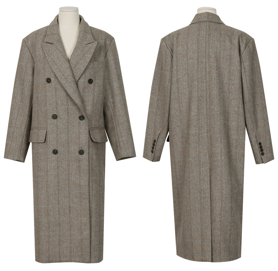 Marant check wool coat_M (size : free)