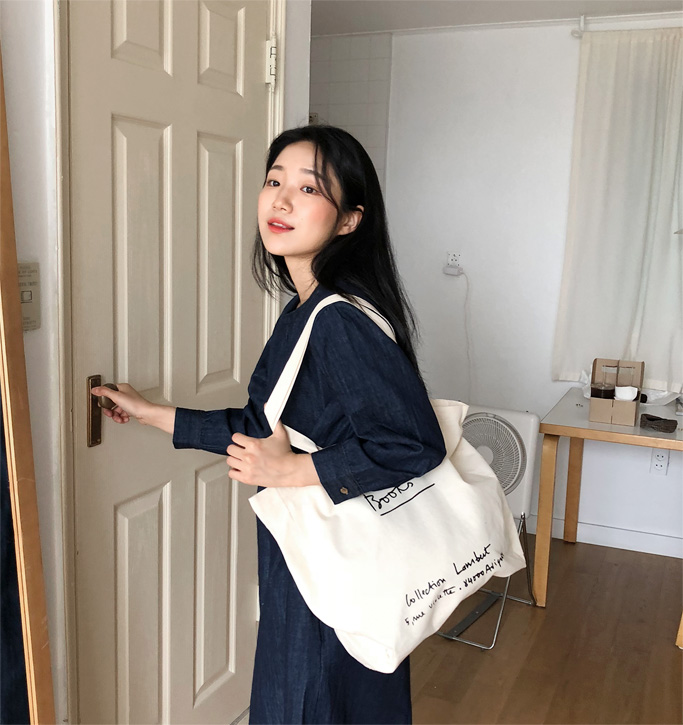 Book cotton eco bag_Y (size : one)