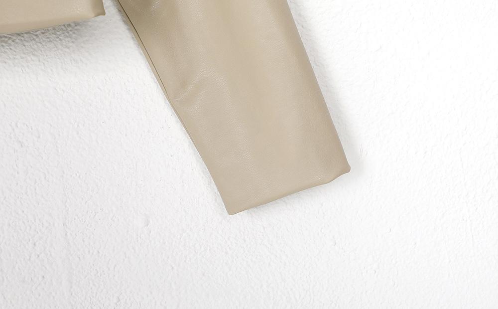 standard crop leather jacket (2colors)
