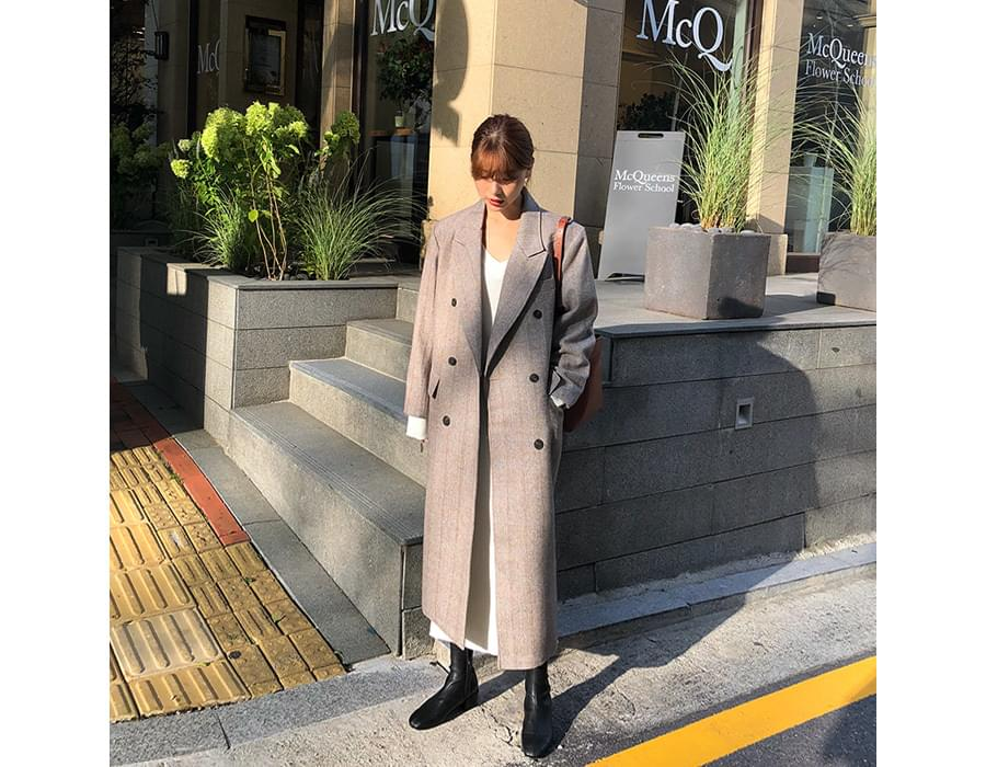 Marant check wool coat_M (size : free)
