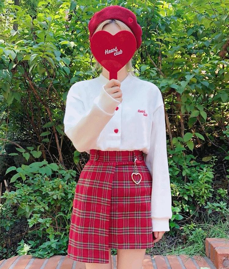 Heart Button Soft Cardigan (기모)