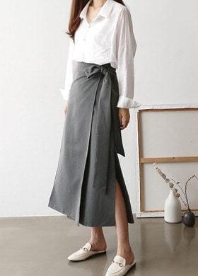 Long lap skirt side