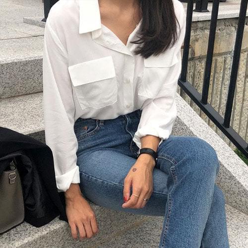 Already-rayon pocket shirt