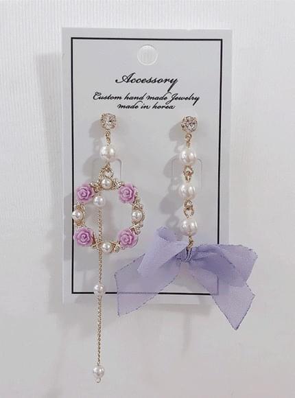 Mary Mi Flower Pearl Earring
