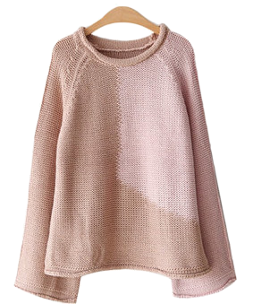 Block color knit top