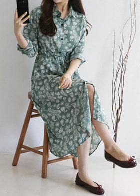 Shirt Long Dress Robe Cardigan