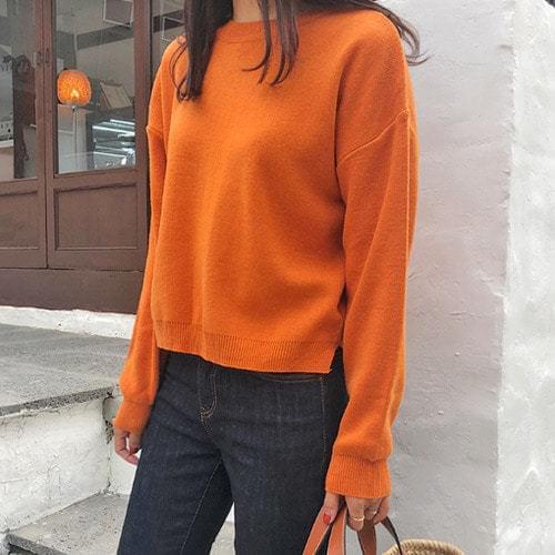 Orangepie-Cashmere Crop Knit