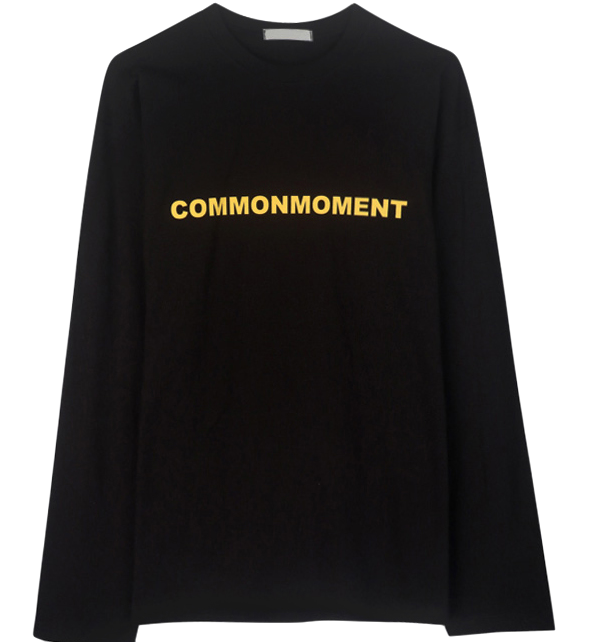 Moment color lettering polo shirt