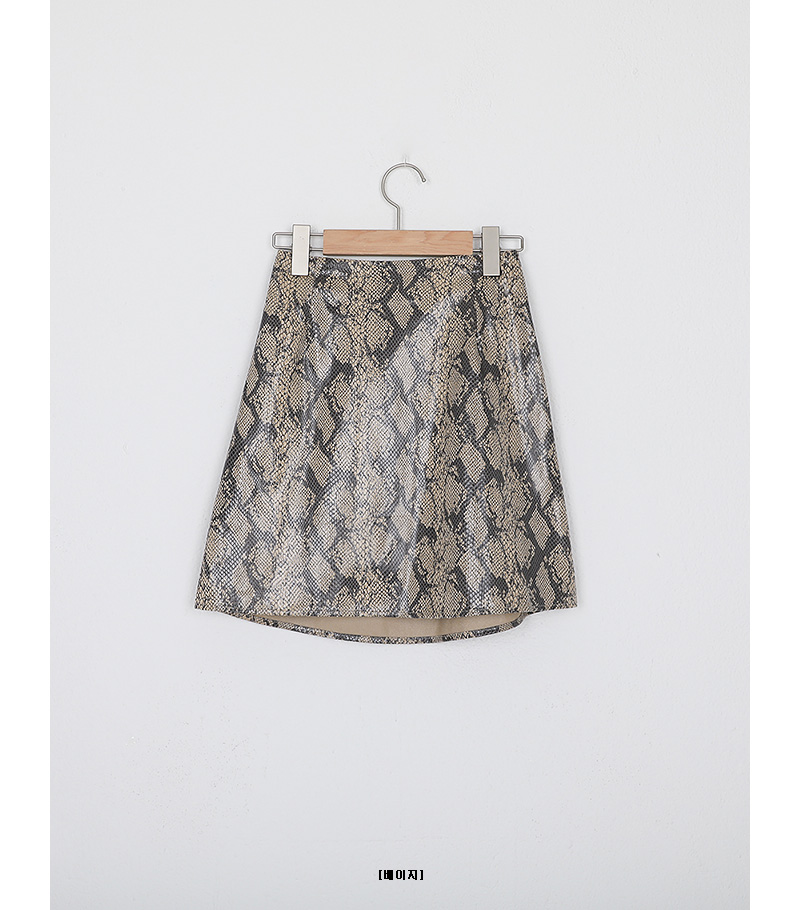 python banding mini skirt (2colors)