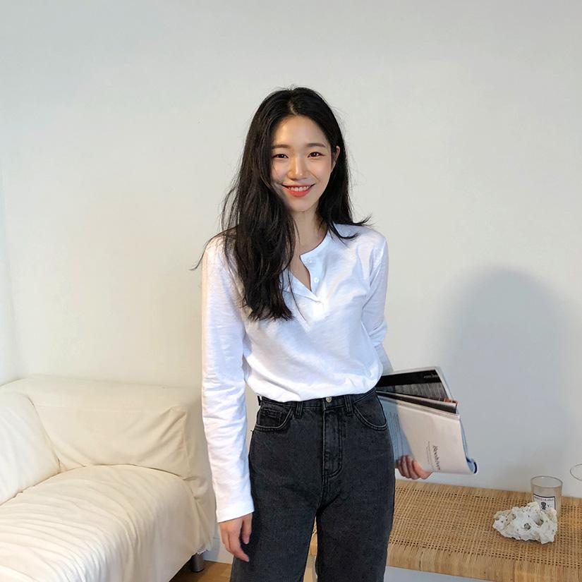 Basic cotton button T_M (size : free)