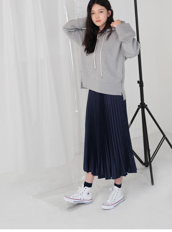 satin accordion skirt