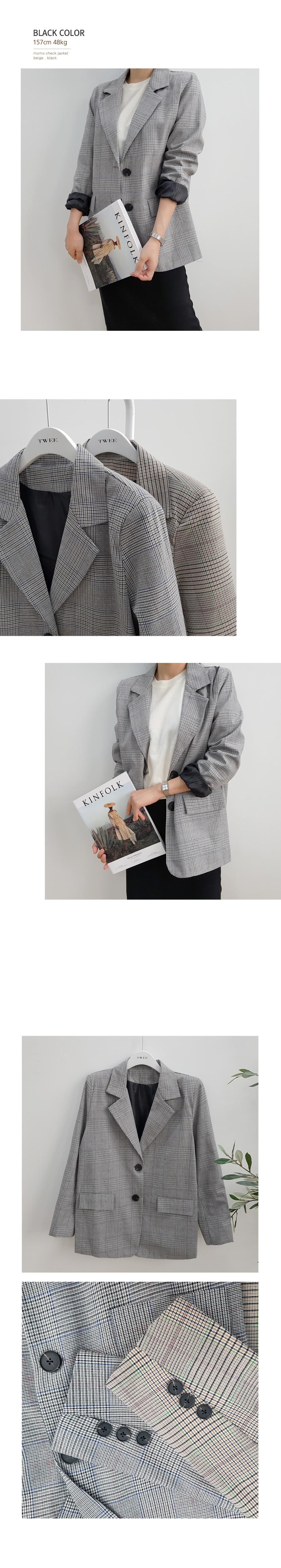 Momo check jacket
