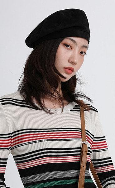 color suede beret (4colors)