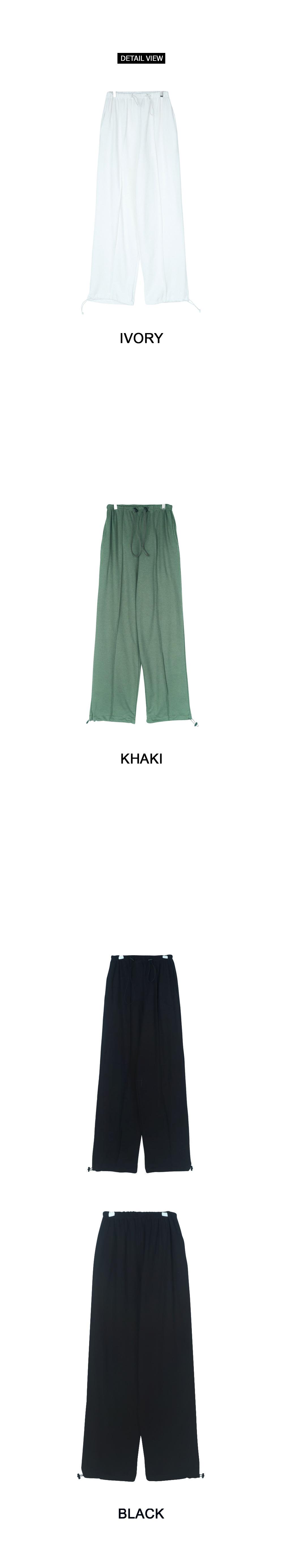 Cotton string pants
