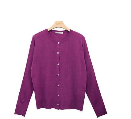 Round Button Knit Cardigan