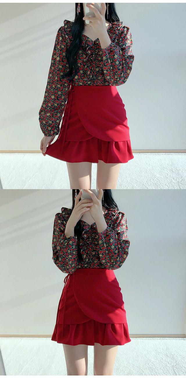 Rose Shearing Flower blouse