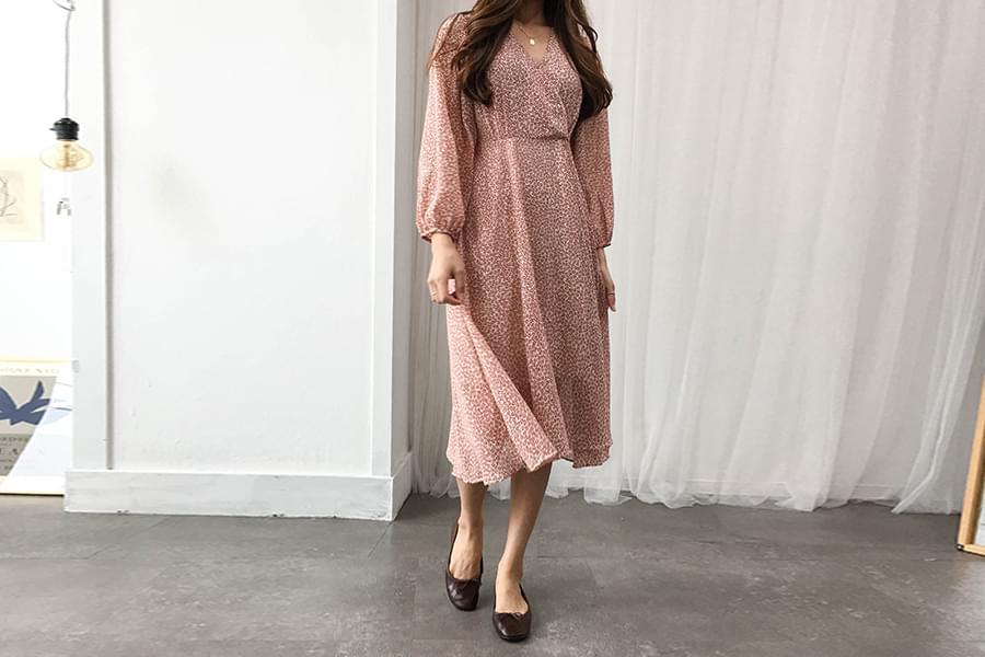 Chiffon rose flower dress