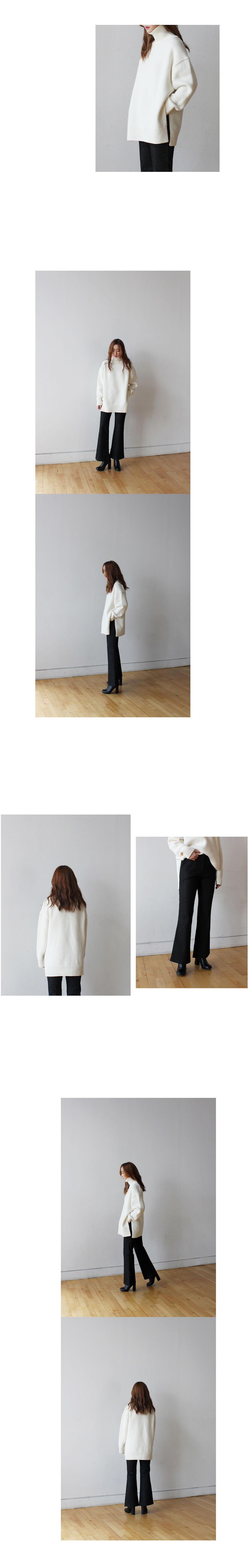 Highwaist bootscut pants