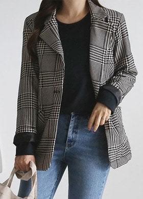 Autumn check jacket
