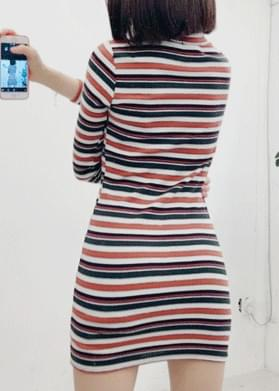 Multi-striped antipode dress