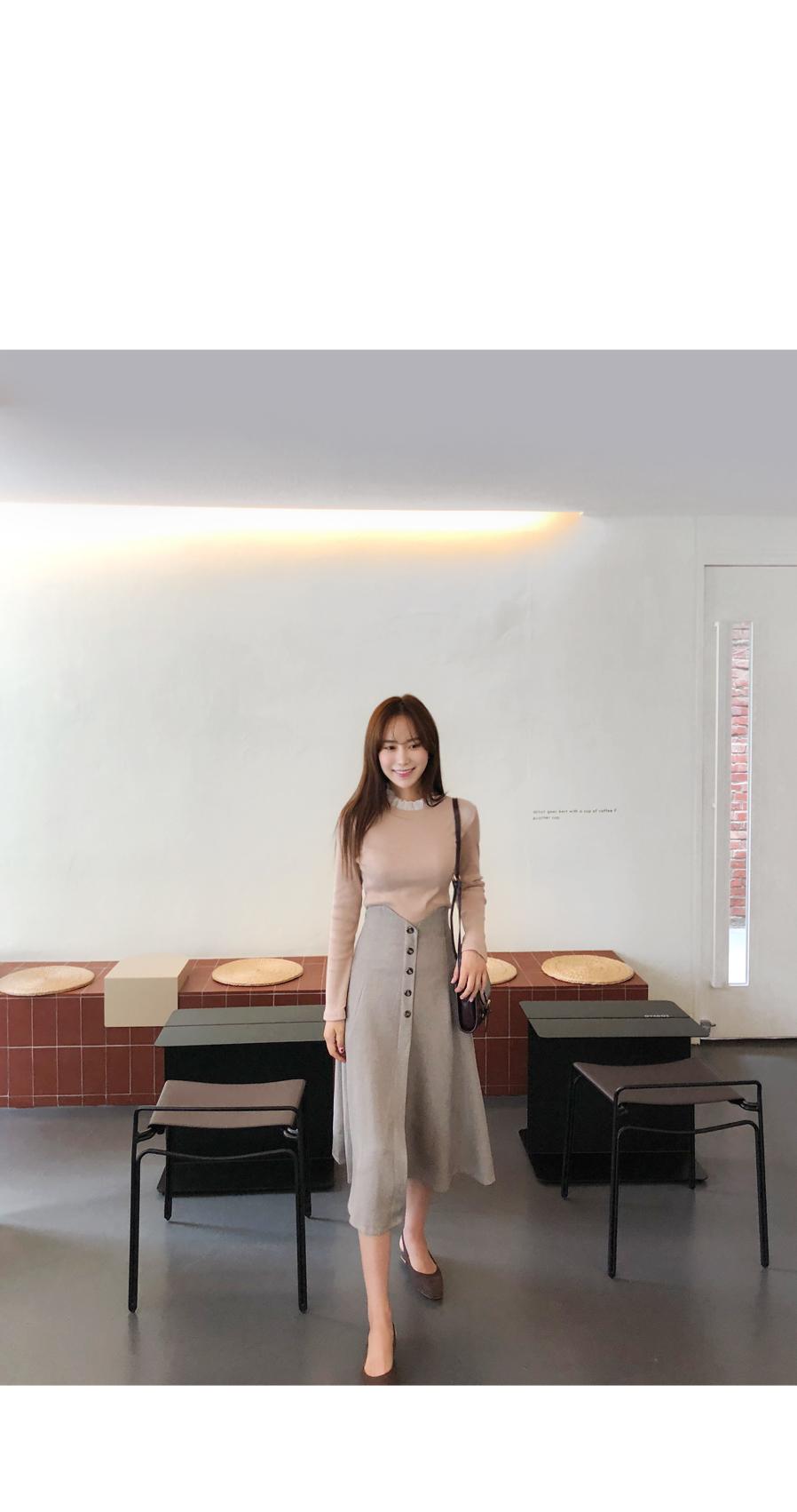High Button Skirt