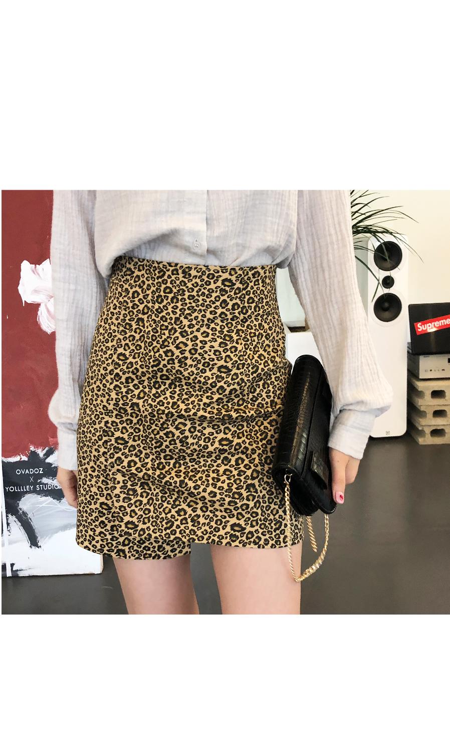 Leopard point skirt