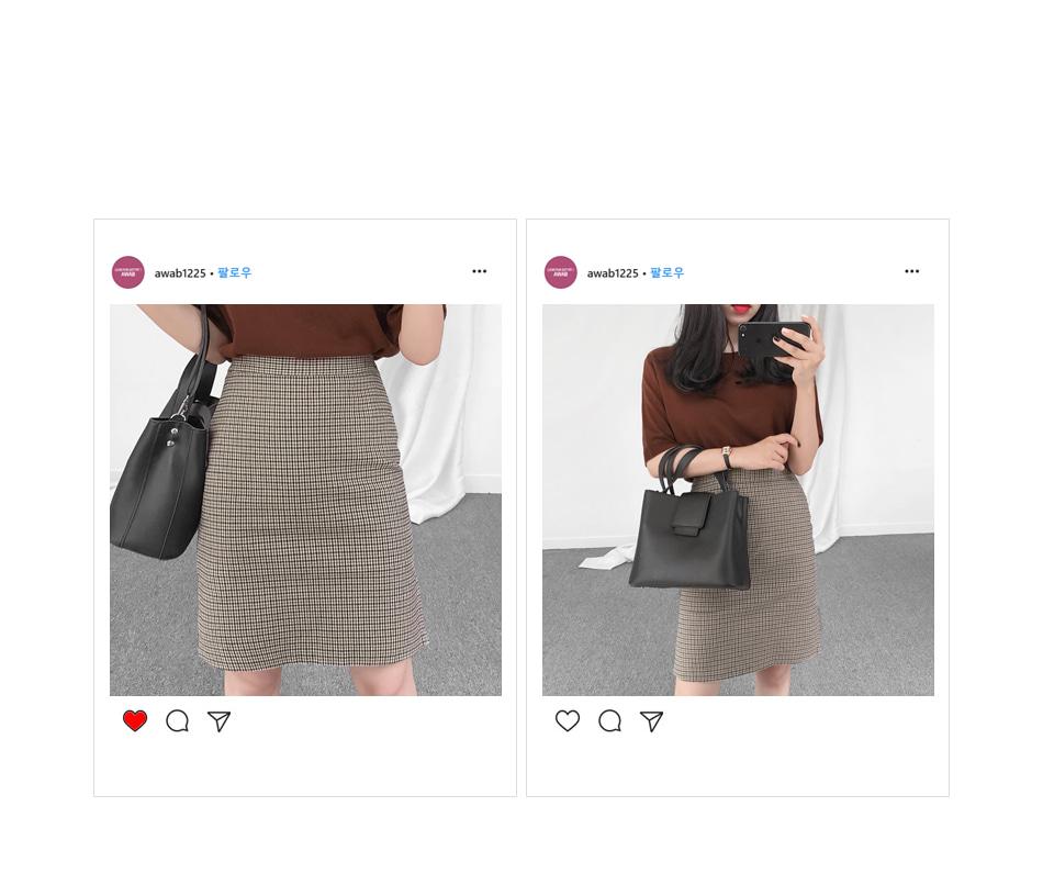 Chloe Check Midi Skirt