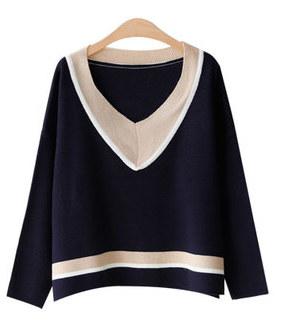 쏭 V color knit