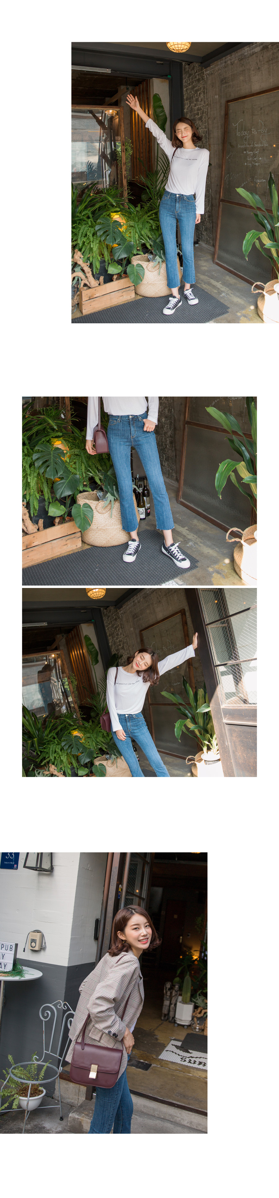 Cindy boots cut denim pants