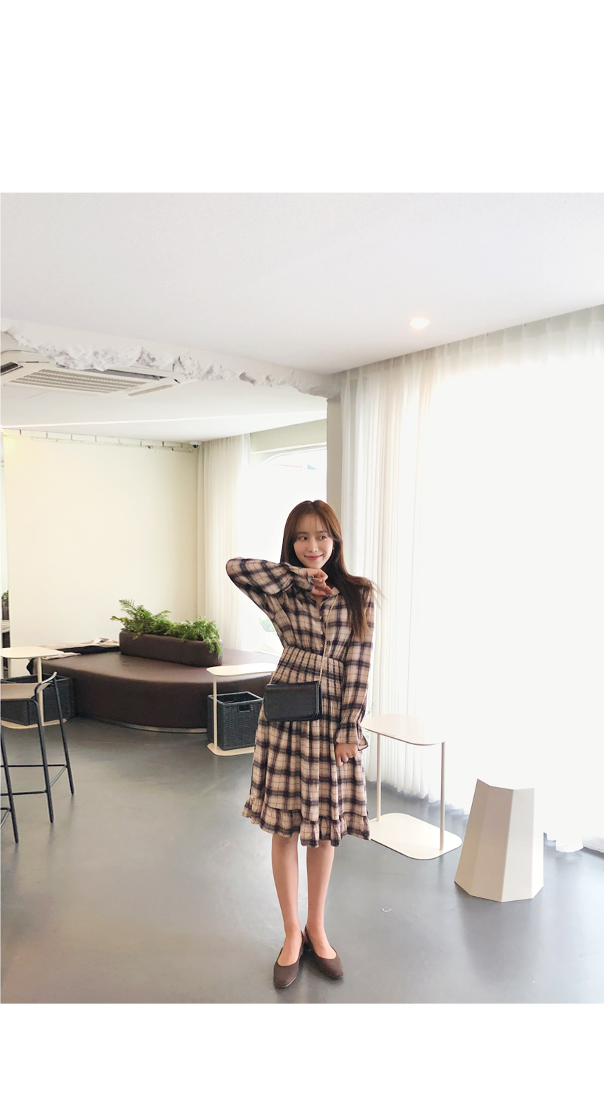 Cookie Check Dress
