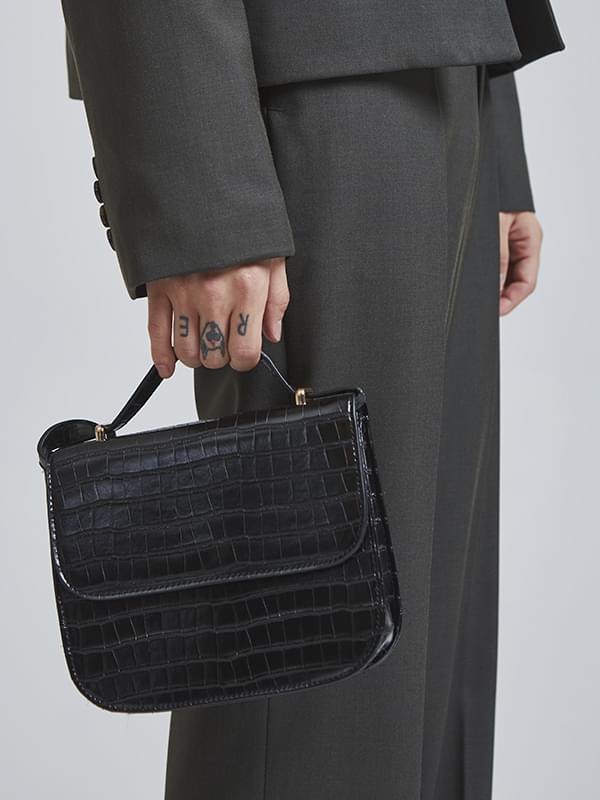 crocodile square bag (2 color)