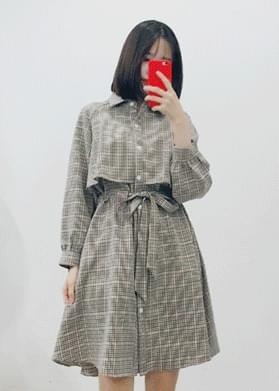 Detective Check Trench Dress