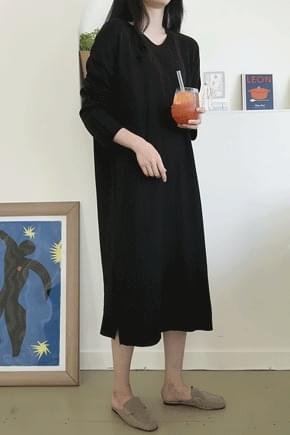 Long barley knit dress