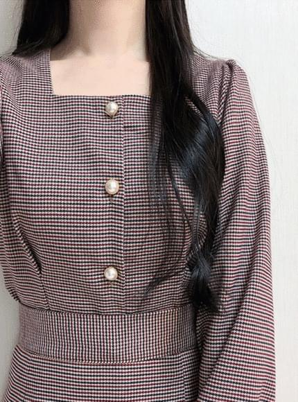Hound check square blouse