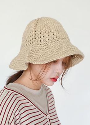 Handmade knit bucket hat