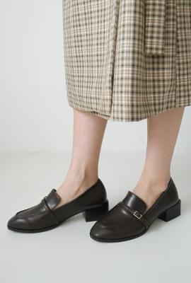 Classy buckle heel loafer