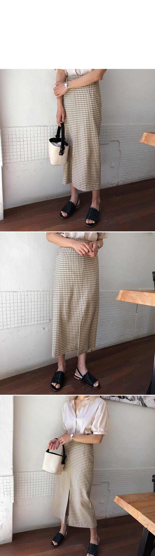 Edin-check long skirt