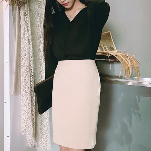 Ashley Basic H-line skirt