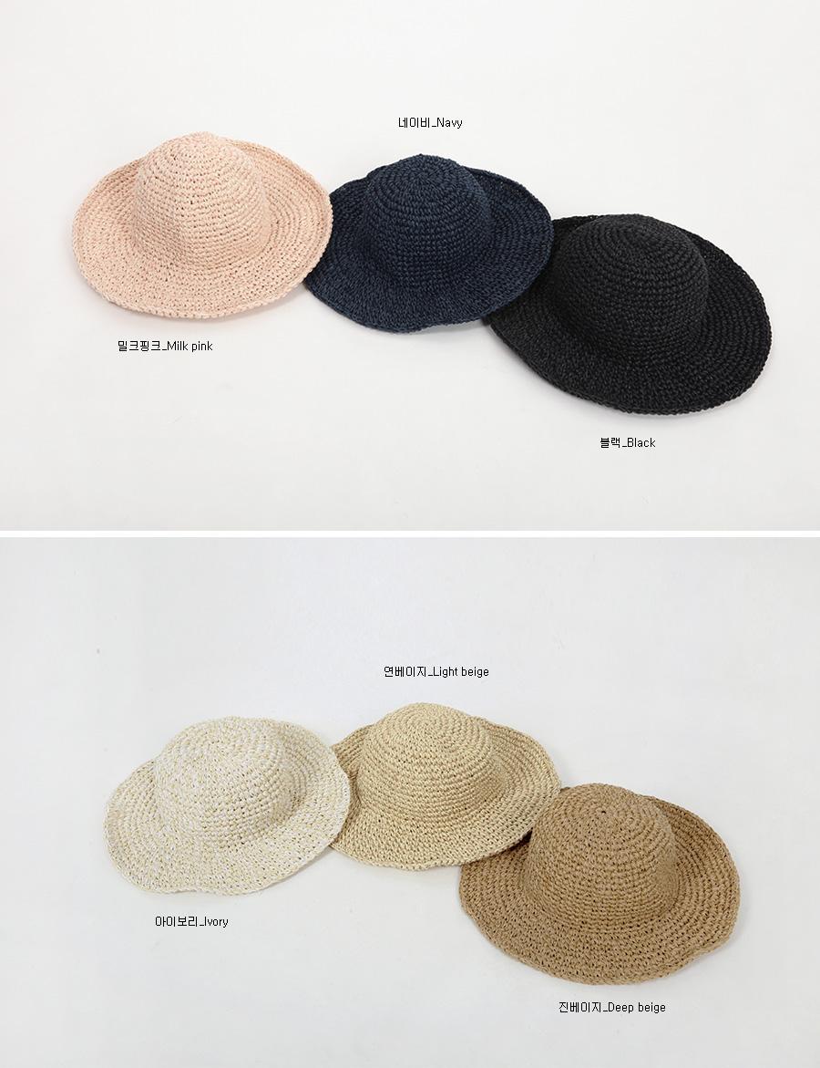 Straw panama hat_B (size : one)