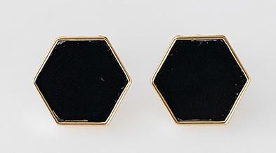 minimal hexagon earring