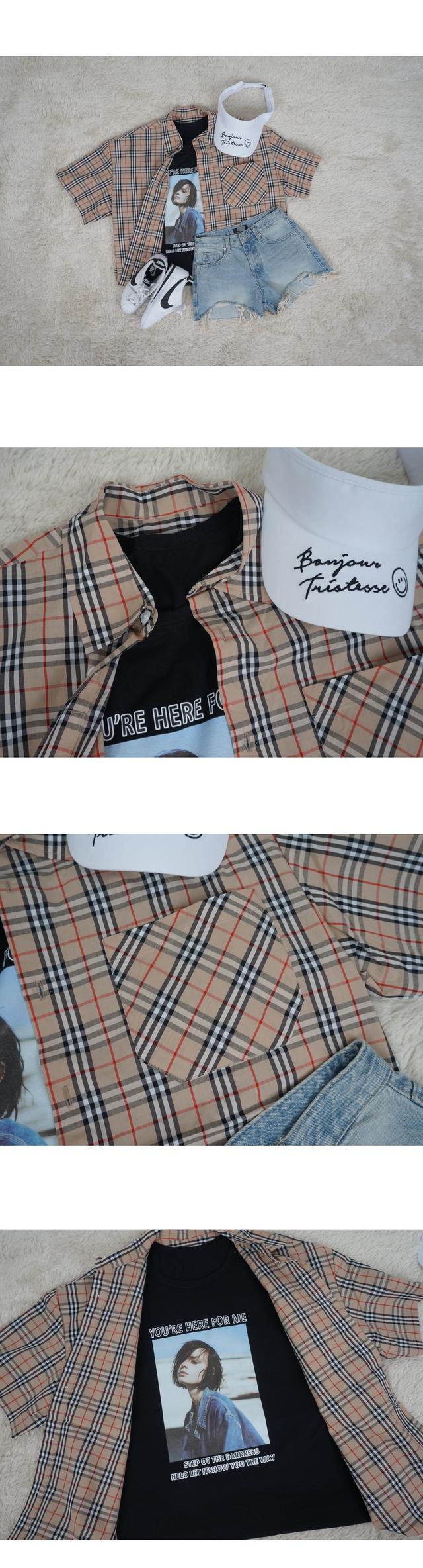 Norris Ruzpit check short-sleeved shirt