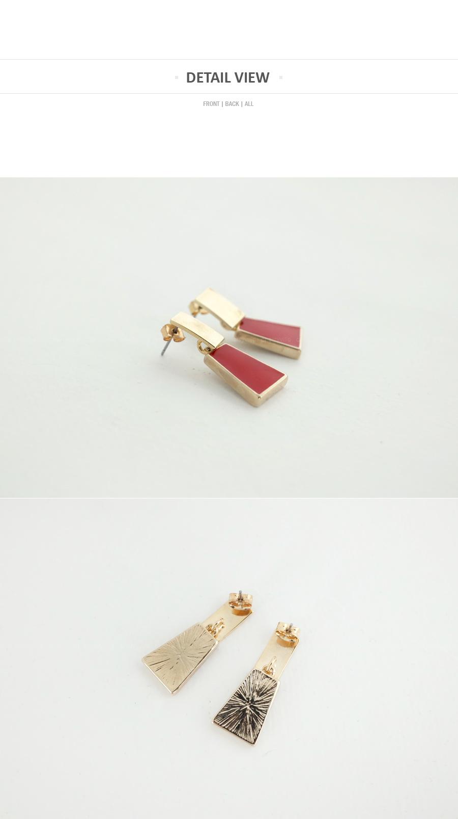 Red Gold Earrings