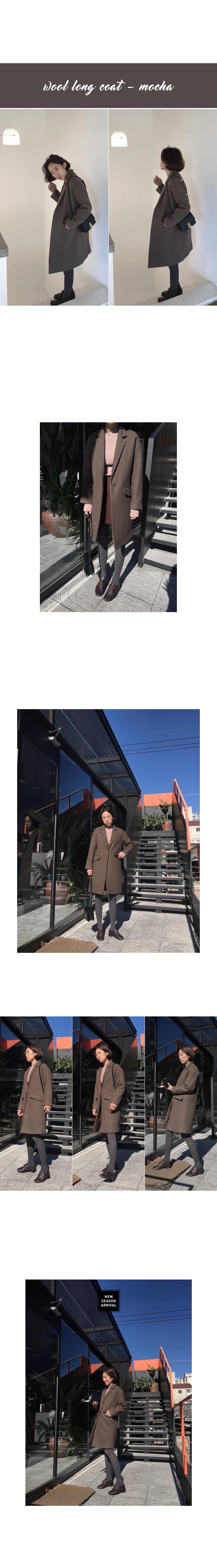 (ZEM.made) 단아핏-울코트 (울90%,mocha)