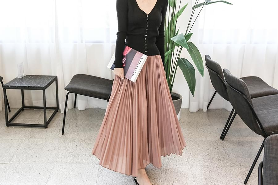 Pleated Long Culottes Pants _pt02731