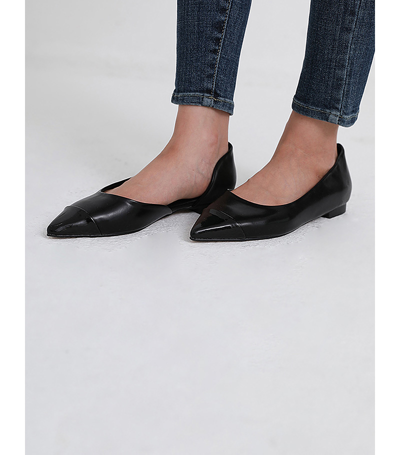 check shape flat shoes (3colors)