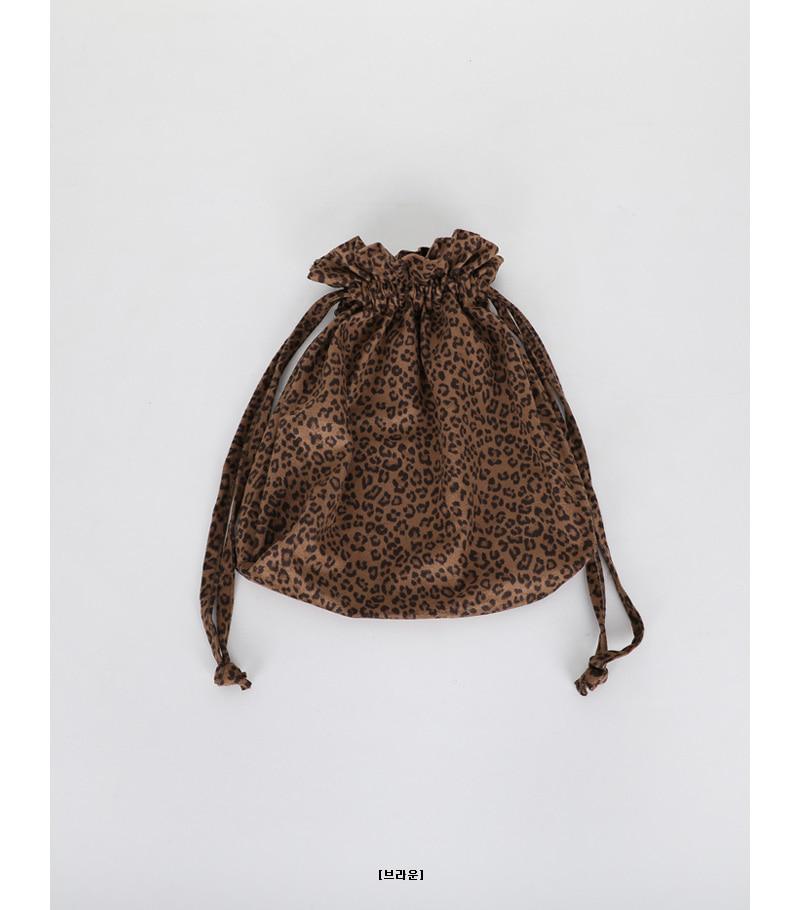leopard pouch bag (2colors)