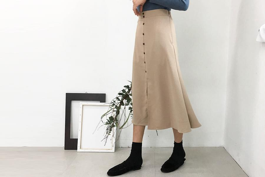 Button Danny Flare Skirt