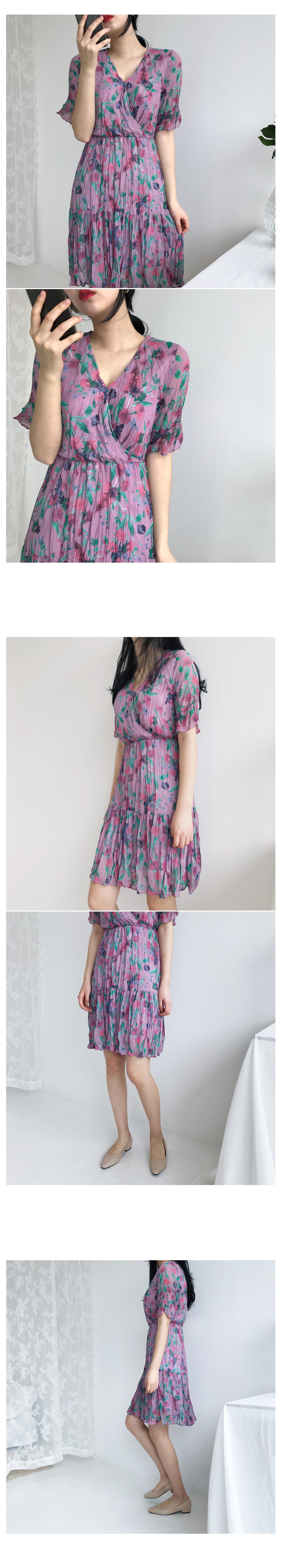 Salon Flower Mini Dress